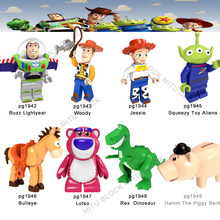 For Toys Story 4 Figure Buzz Lightyear Woody Forky Gremlins Gizmo Stitch Jessie Alien With Elliot Building Bricks Friends Bricks(China)