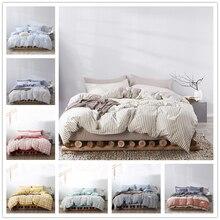 FAMIFUN Fashion Classic Black Grid Bedding Set Double Queen King Bed Linen Soft Duvet Cover Pillowcase Flat Sheet For Adult allover grid print sheet set