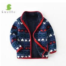 SVELTE for 2 9 Y Fashion Kids Boys Lining Fur Thick Fleece Warm Fall Winter Jakcet Retro Coat Outerwear Children Clothing