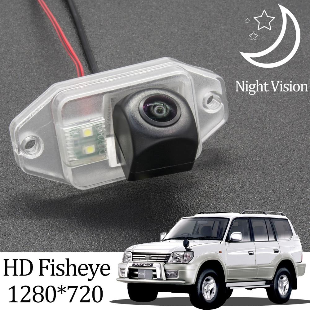 Owtosin hd 720p fisheye câmera de visão traseira para toyota land cruiser prado 90 1996-2002 carro veículo estacionamento reverso acessórios