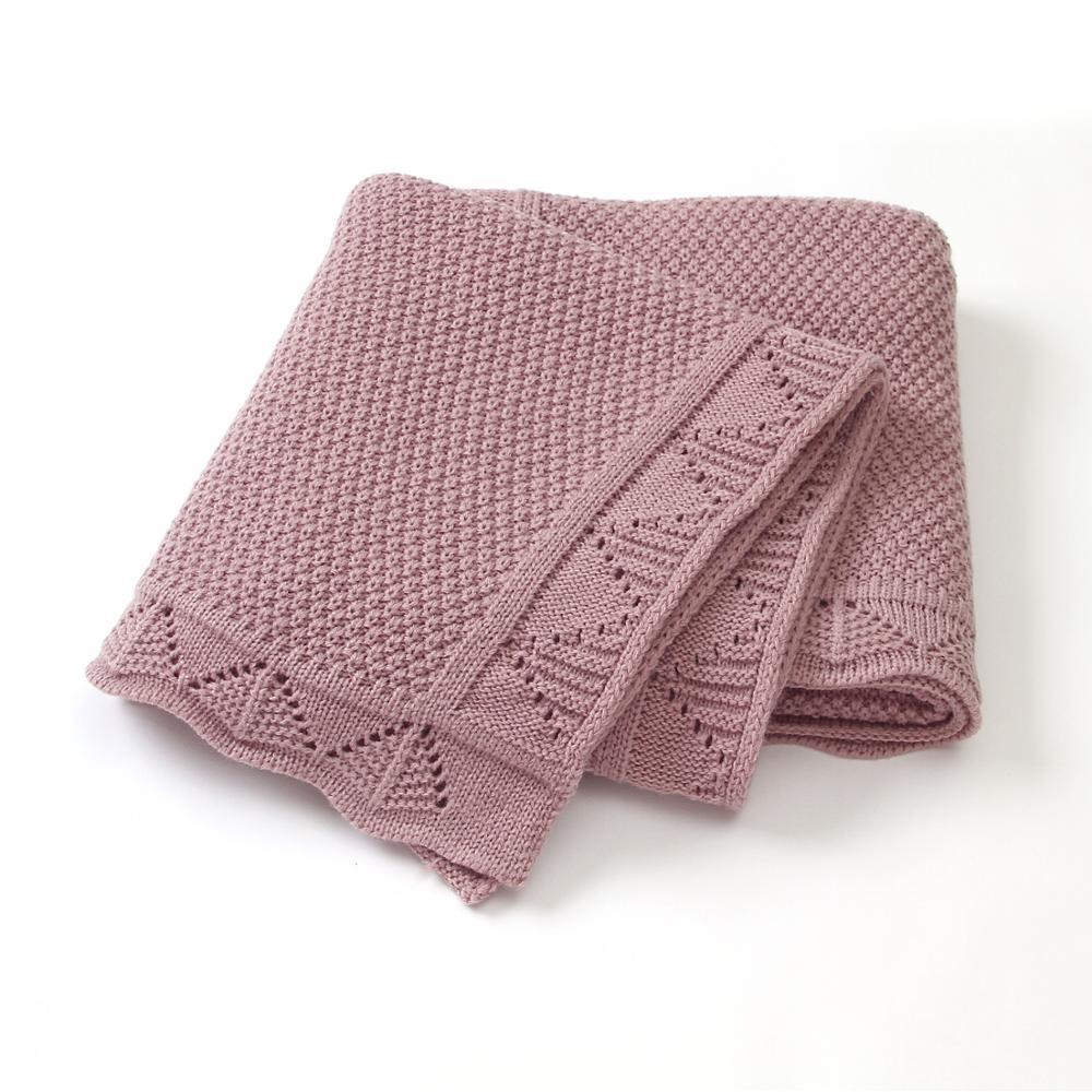 Baby Blankets Knitted Newborn Soft Warm Swaddle Wrap Sleep Sacks 100*80cm Kids Bath Towels Children Outdoor Stroller Accessories|Blanket & Swaddling|   - AliExpress