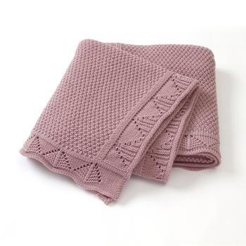 Baby Blankets Knitted Newborn Soft Warm Swaddle Wrap Sleep Sacks 100*80cm Kids Bath Towels Children Outdoor Stroller Accessories