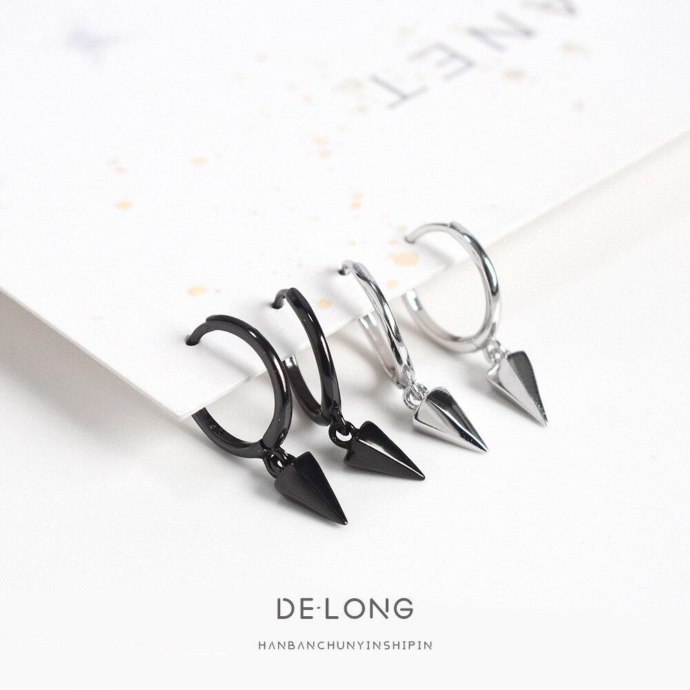 Grier Women Fashion S925 Sterling Silver Dangle Earrings Geometric Drop Earrings Charm Jewelry Gift Geometric Awl Earrings