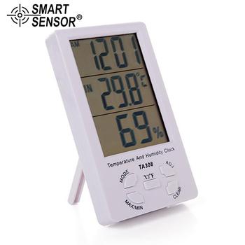2021 nowy LCD cyfrowy termometr higrometr kryty odkryty pulpit miernik temperatury i wilgotności elektroniczna stacja pogodowa narzędzia tanie i dobre opinie SMART SENSOR termometr higrometr CN (pochodzenie) TA308 49 ° C i Pod DIGITAL Gospodarstwo domowe 1 4 Do położenia i na ścianę
