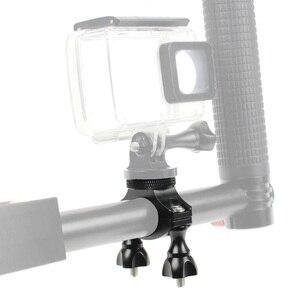 Image 4 - Bgning 1/4カメラバイク自転車ハンドルバークランプブラケット三脚マウントネジクリップのためのgoproアクションカメラサイクリングosmo携帯2