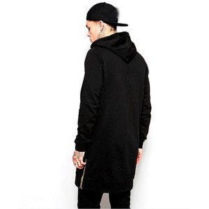 Image 4 - Jogger streetwear brand mens hoodie hip hop casual long coat autumn and winter fashion pure cotton mens clothing