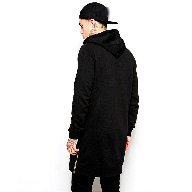 Image 3 - Men's hooded casual shirt new streetwear hip hop men's pullover brand hoodie fashion long hoodie hip hop jacket-in Hoodies & Sweatshirts from Men's Clothing