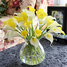 Artificial-Calla Decoration Flower Fake Lily Aquatic-Plants Plastic Mini Home-Room Leaf