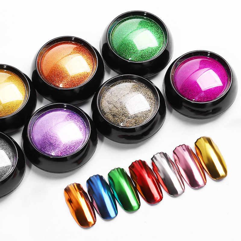 เล็บ Glitter dipping Powder Chrome Mirror Glitter ผงสำหรับเล็บตกแต่ง DIY เล็บ