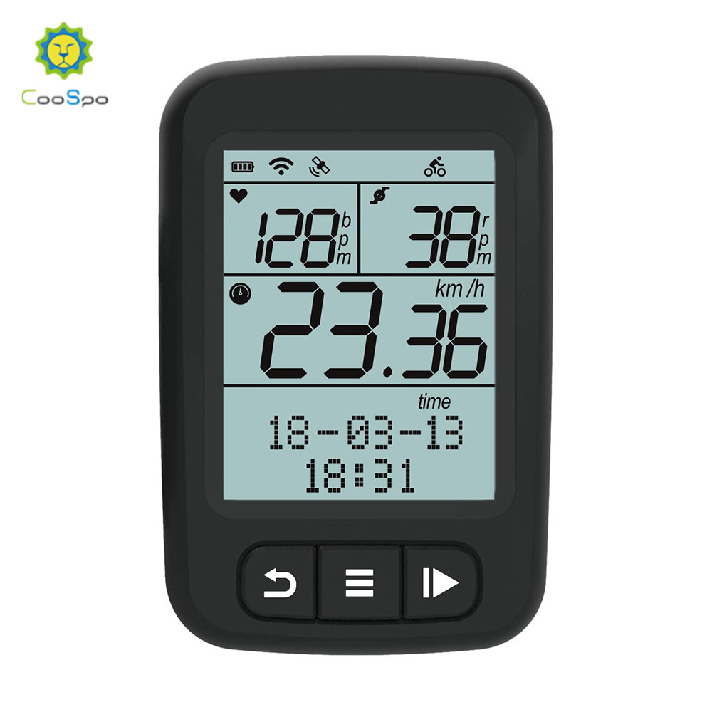 Coospo Wireless <font><b>Bike</b></font> <font><b>Computer</b></font> Stopwatch <font><b>GPS</b></font> Cycling <font><b>Computers</b></font> Bluetooth 4.0/ANT+ Bicycle Speedometer Odometer IPX7 Waterproof image