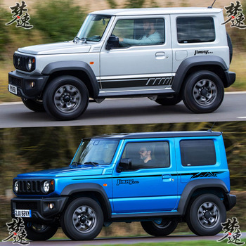 Car stickers For Suzuki Jimny body exterior decoration modified color bar stickers decorative door off-road SUV stickers new car stickers for ford raptor f150 full body appearance modified stickers ranger off road body stickers
