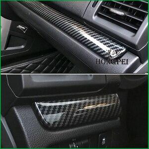 Image 2 - Auto Innen Dashboard Center Control Panel Molding Streifen Abdeckung Trim Aufkleber Für Subaru XV 2012 2016 Für Forester 2013 2014 LHD