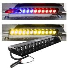 цена на Car Truck Emergency Flasher Dash Strobe Warning Light Day Running Flash Led Police Lights 12 LEDs Flashing Modes 12V
