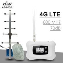 70dB 4G LTE 800 Ban Nhạc 20 Tế Bào Tăng Cường Tín Hiệu 4G LTE Di Động Điện Thoại Lặp Tín Hiệu AGC MGC Thông Minh ĐTDĐ Khuếch Đại Ăng Ten 4G