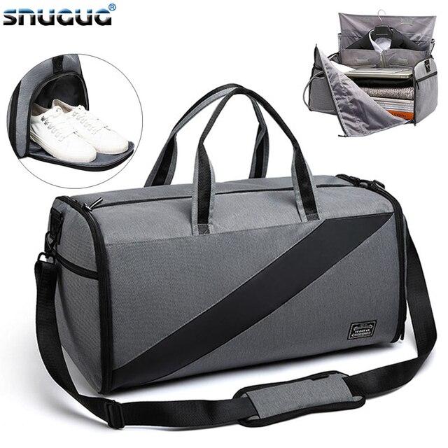 Çok fonksiyonlu yeni spor spor çanta spor taşınabilir erkek seyahat el çantası büyük takım elbise spor çantası eğitim Crossbody omuz çantaları