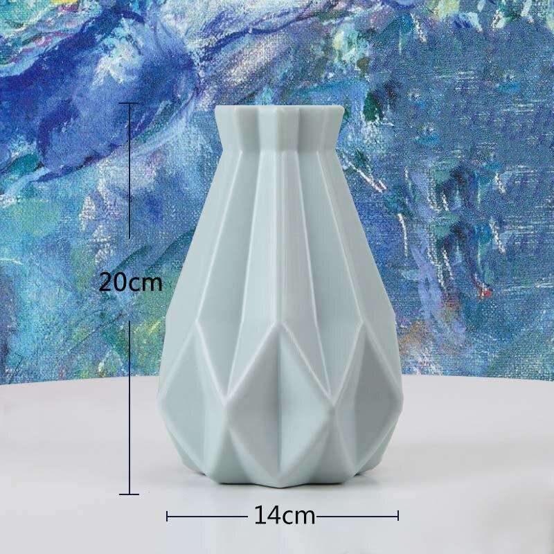 Оригами пластиковая ваза молочно-белая имитация керамического цветочного горшка Цветочная корзина Цветочная ваза для украшения интерьера скандинавские украшения - Цвет: 3505-Green