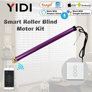 Image 1 - 35mm rurowe rolety automatyczne silnik migawki 110V 220V Electirc inteligentne Wifi kurtyny zmotoryzowane rolety Tuya Smart Home