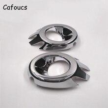 Cafoucs 2Pcs/set Chrome ABS Car Front Fog light Trims Decoration Cover For Citroen C4 Saloon Coupe Sedan 2004-2008