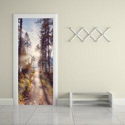 Drzwi naklejki ścienne na płótnie Home Decor czy jesteś zainteresowany kupnem las pcv Mural papier drukuj obraz samoprzylepna wodoodporna tapeta do sypialni