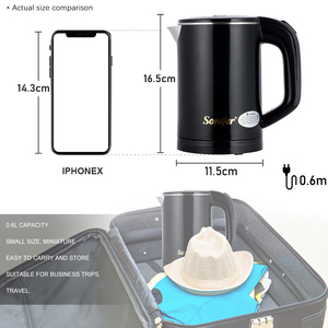 Image 5 - 0.6L Travel Kettle Mini Electric Kettle Stainless Steel Cordless Portable 600W Heating Electric Water Boiler Teapot Pot Sonifer