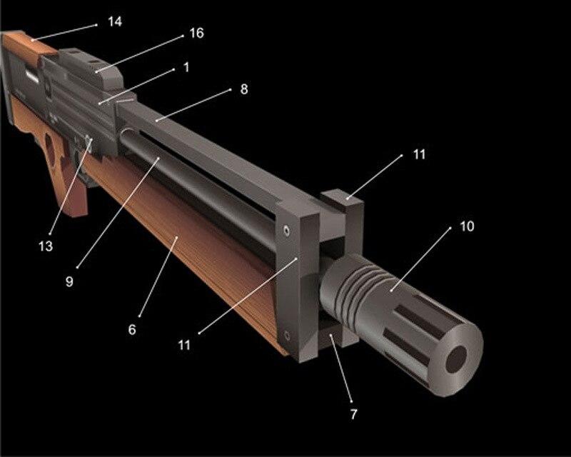 Walther WA2000 Sniper Step Handmade DIY Papercraft-Shaped 3D Papercraft
