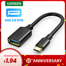 Ugreen USB C to USB Adapter OTG Cable USB Type C Male to USB 3.0 Female Cable Adapter for MacBook Pro Samsung S9 Type-C Adapter(China)