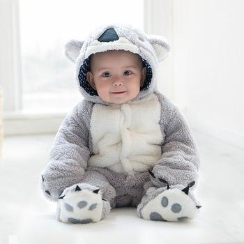 Zima Feece bluzy z kapturem dla niemowląt wspinaczka pajacyki z długim rękawem noworodka płaszcz kombinezon dla niemowląt chłopiec dziewczyna odzież miękkie ciepłe pajacyki tanie i dobre opinie Dla dzieci Pasuje prawda na wymiar weź swój normalny rozmiar COTTON Footies 0-3 miesięcy 4-6 miesięcy 7-9 miesięcy