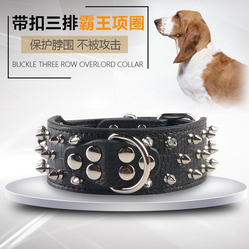 Pet Collar With Rivet Pet Anti-Bites Dog Dog Collar And Medium-sized Dog Supplies