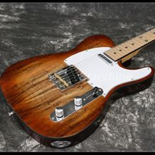 T-ER11 Quality Maple Top String through Body light Brown Electric guitar Black Star InlayAll цена