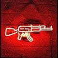 Pistolen Neon Licht Individuelle Handarbeit Neon Wand Zeichen für Room Decor Home Schlafzimmer Mädchen Pub Hotel Strand wand Freizeit Spiel fenster