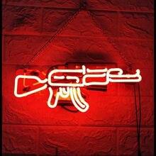 Pistolety lampa neonowa niestandardowe ręcznie neonowe znaki ścienne do wystroju pokoju strona główna sypialnia dziewczyny Pub Hotel plaża ściana rekreacyjne okno gry