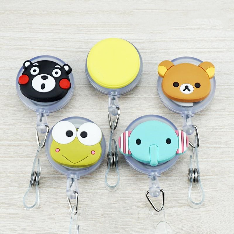 1pc Cartoon Animals Retractable Badge Reel For Badge Holder Accessories