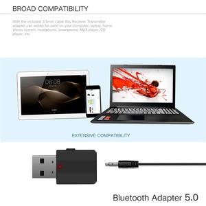 Image 5 - KEBIDU بلوتوث 5.0 استقبال الارسال ستيريو بلوتوث محول صغير 3.5 مللي متر AUX الصوت RCA ل TV PC سيارة عدة محول لاسلكي