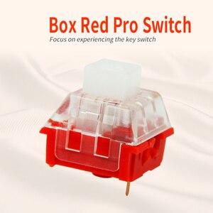 Image 3 - Kailh Box/przełącznik niskoprofilowy czekoladowa mechaniczna klawiatura RGB SMD biała łodyga liniowy ręczny czerwony przełącznik Rro