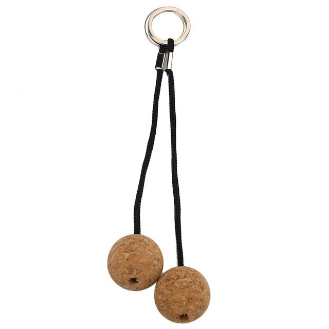 2pcs 53mm/35mm Cork Ball Keychain Holder for Water Sports Beach  2