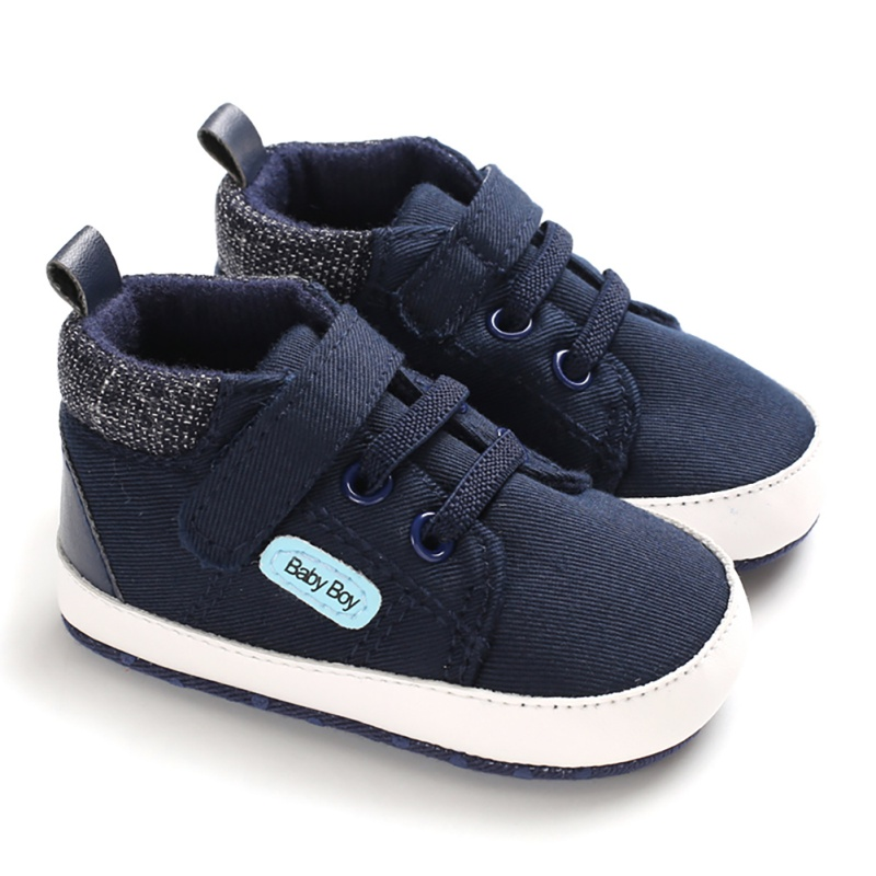 Fashion Spring Baby Boys Anti-Slip Shoes Sneakers Toddler Soft Soled First Walkers