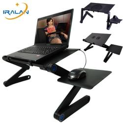 Regulowana aluminiowa podstawka do laptopa do łóżka ergonomiczna przenośna taca na laptopa PC podstawa stołu stół do notebooka stojak na biurko z podkładką pod mysz