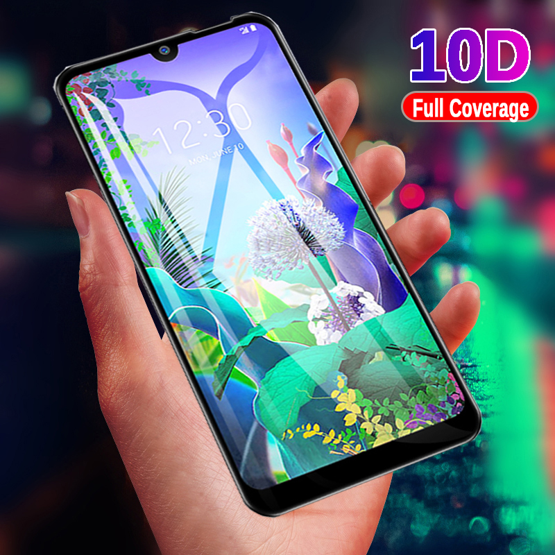 10D Full Cover Tempered <font><b>Glass</b></font> For <font><b>LG</b></font> Q60 K50 K40 V50 <font><b>Screen</b></font> <font><b>Protector</b></font> On <font><b>LG</b></font> K10 V40 V30 V20 G8 G7 <font><b>G6</b></font> Q 60 Protective <font><b>Glass</b></font> Film image