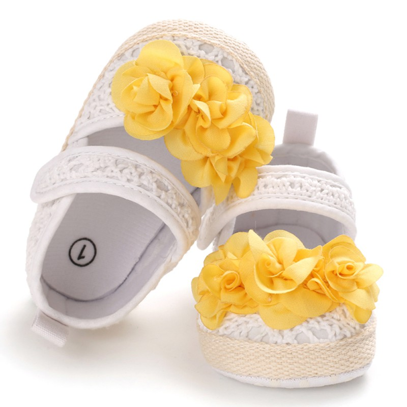 Casual Baby Girls Breathable  Anti-Slip Flower Design  Sneakers Toddler Soft Soled Walking Shoes 0-18M