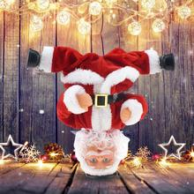 Electric Santa Claus Toy Musical Dancing Santa Claus Doll Inverted Musical Dancing Santa Doll Christmas Decoration Kids Gifts