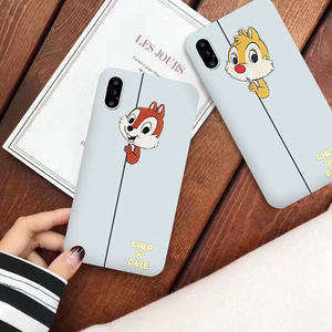 GYKZ Cartoon Chip Dale Fitted Case For iPhone X 11 Pro XS MAX XR 7 8 6 6s Plus Squirrel White Silicone Soft Phone Cover Capa Bag(China)