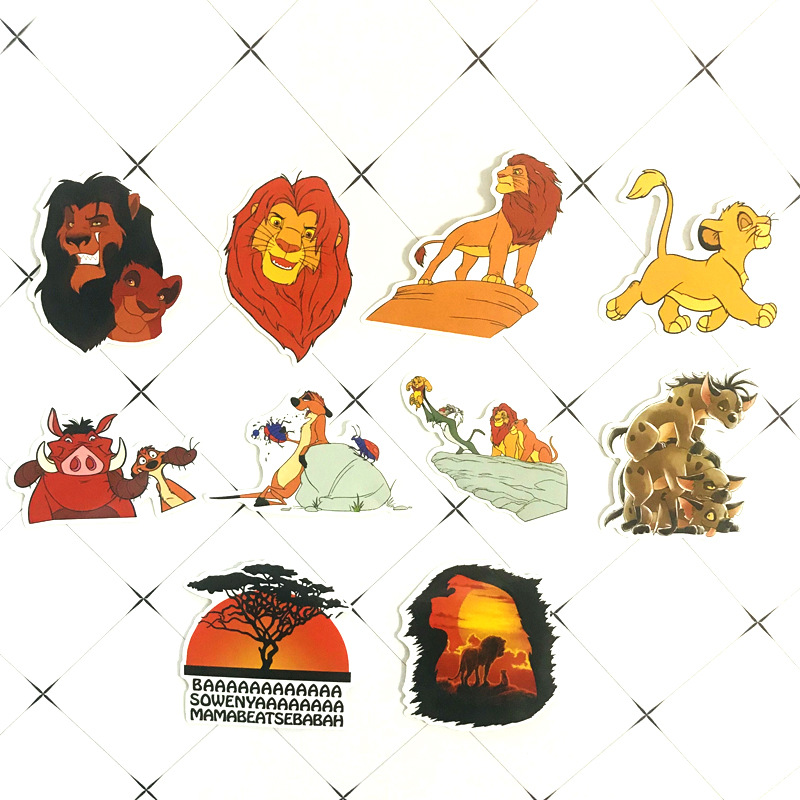 50pcs The Lion King Anime Cartoon Stickers Toy Luggage PVC Waterproof Sticker Motorcycle and Luggage Notebook Sticker