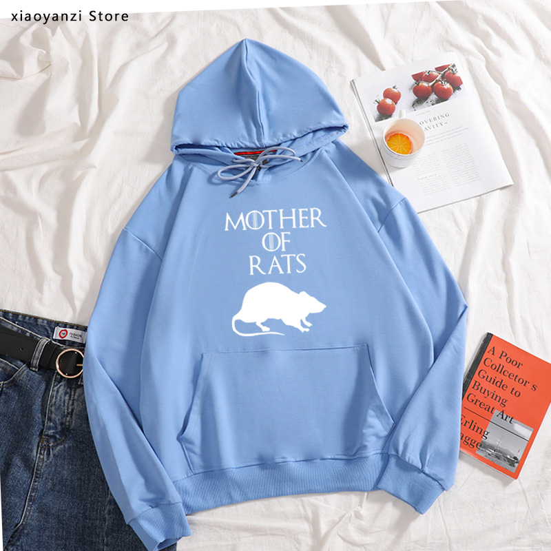 2020 Style Funny Mother Of Rats Women Hoodies Streetwear Casual Sports Print Cotton Hip Hop Casual Joggers Pullovers Sweatshirts