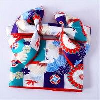 Japanese Style Kimono Belt Bow knot Haori Obi Shaped Yukata Accessories Kanagawa Costume Multi patterns Butterfly Cotton Robe