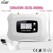 חכם 850MHz CDMA 2G 3G טלפון נייד אות מגבר עם LCD 70dB רווח CDMA טלפון סלולרי מגבר ערכת עבור אמריקה 2G 3G שימוש