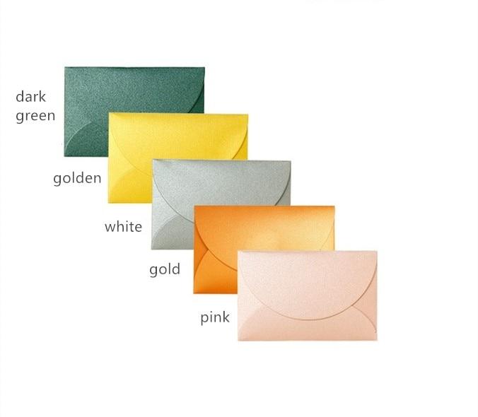 50 Pcs/lot Colorful Letter Paper Envelopes Mini Simple Wedding Envelopes For Invitations Stationary Greeting Card Gift Envelopes