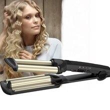3 Barrels Professional Curling Iron Rollers Egg Rolls Hair Styler Hair