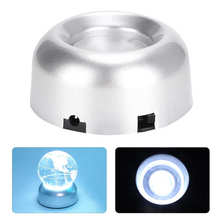 Base-Stand-Holder Transparent Crystal with Glass Objects White Base-Light Laser LED Electric