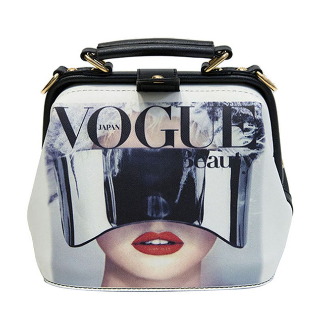 Fashion Cartoon Pattern Pu Leather Crossbody Bags for Women Trending Female Shoulder Handbags Doctor Tote