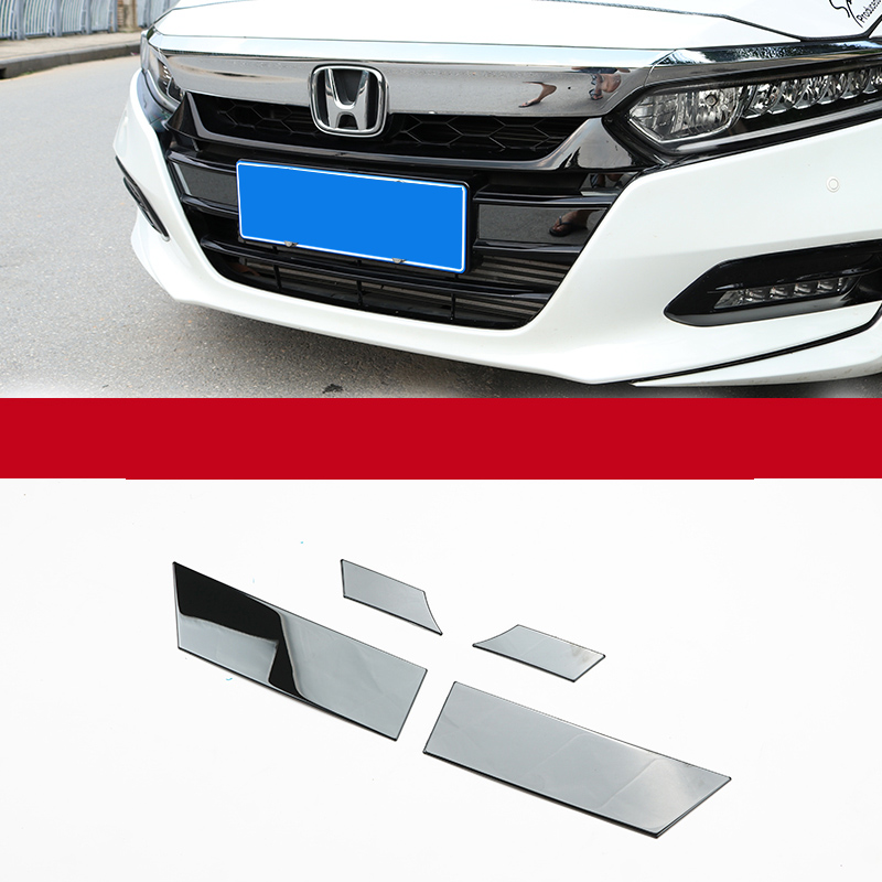 Lsrtw2017 Car Front Grill Net Trims for <font><b>Honda</b></font> <font><b>Accord</b></font> <font><b>2018</b></font> 2019 2020 10th Interior Mouldings <font><b>Accessories</b></font> Stainless Steel image